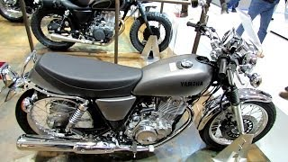 2014 Yamaha SR400 Walkaround - 2013 EICMA Milano Motorcycle Exhibition