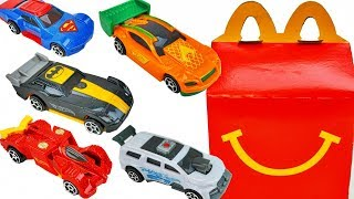 Justice League Hot Wheels Mcdonalds Happy Meal Toys Cars Batman Wonderwoman Aquaman The Flash Cyborg
