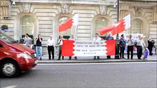 بنات سعوديات غير محتشمات يستفزون المعتصمين قبل دخولهم للسفارة السعودية في لندن