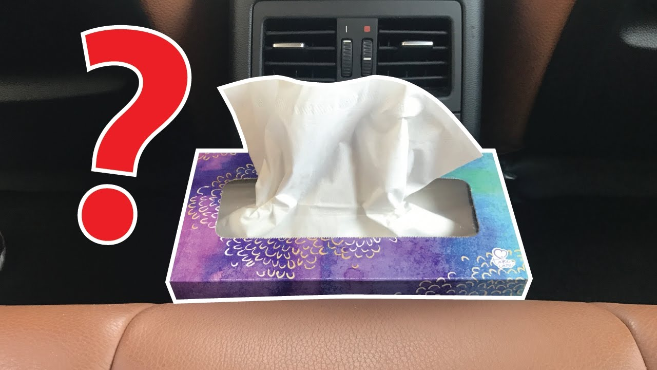 where to put tissue box in a car youtube