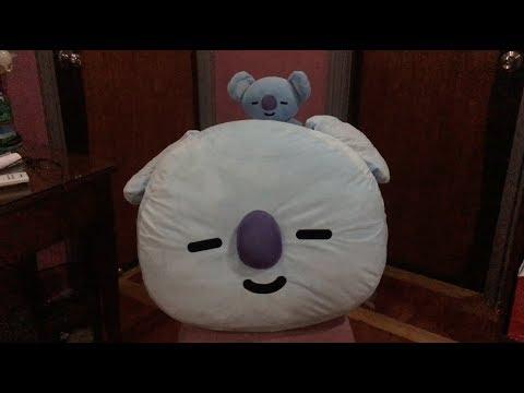 bt21 koya 65 cm face cushion unboxing