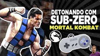 DETONANDO COM SUB-ZERO ULTIMATE MORTAL KOMBAT 3 - SNES