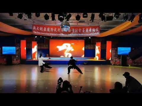 奥大利亚国际武术节闭幕式:全能冠亚季军表演