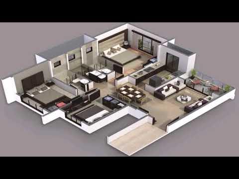 1 Story 3 Bedroom 3 Bath House Plans