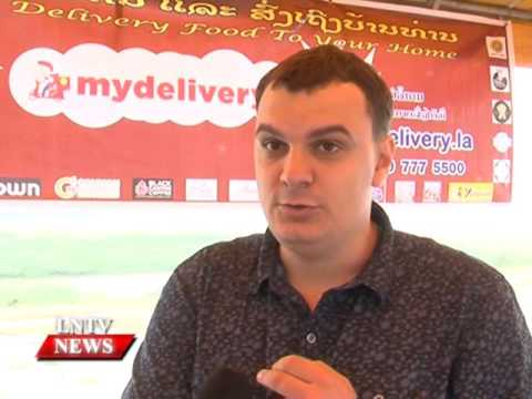 Lao NEWS on LNTV: A new food delivery service introduces in the capital, Mydelivery.29/1/2016
