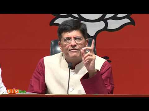 Shri Piyush Goyal's press conference on unfufilled promises made by Congress in their manifestos.