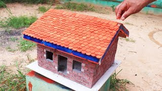 HOW TO BUILD A BRICK WALL: BRICKLAYING - How to build a MINI HOUSE