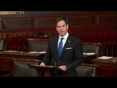 On Senate floor, Rubio urges colleagues to support Montenegro