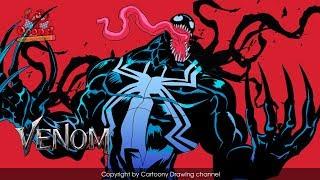 Let's draw Venom - How to draw Venom - Speed drawing Venom