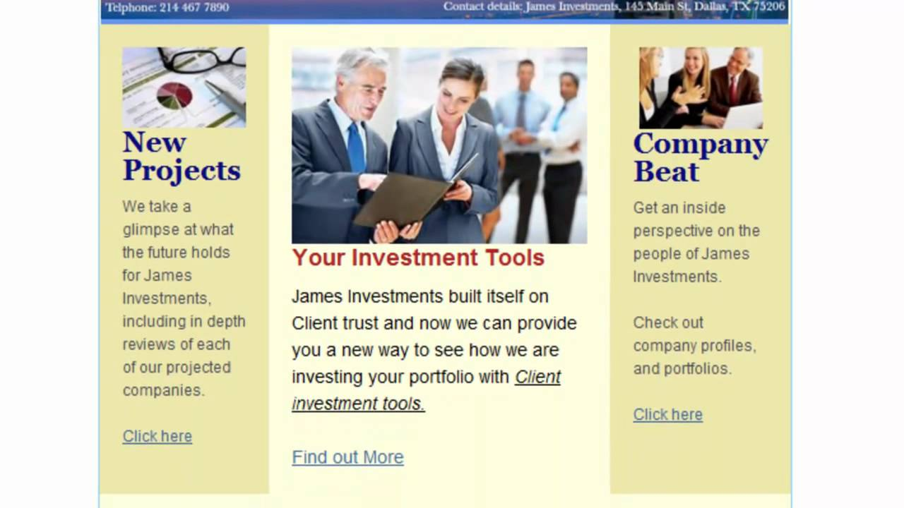 professional business newsletter example mp4 youtube
