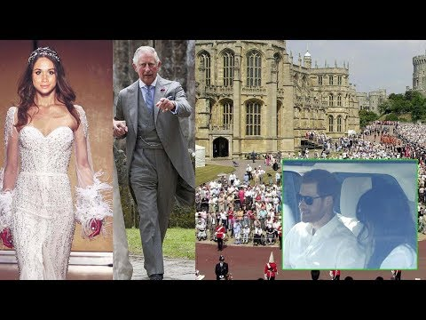 Meghan enter the church ALONE.. Prince Charles try to join the bride to walk down the aisle