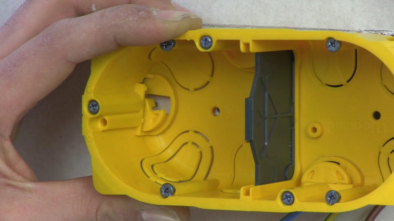 Boite Cache Prise Electrique transformer une prise électrique simple en prise double dans une plaque de  plâtre