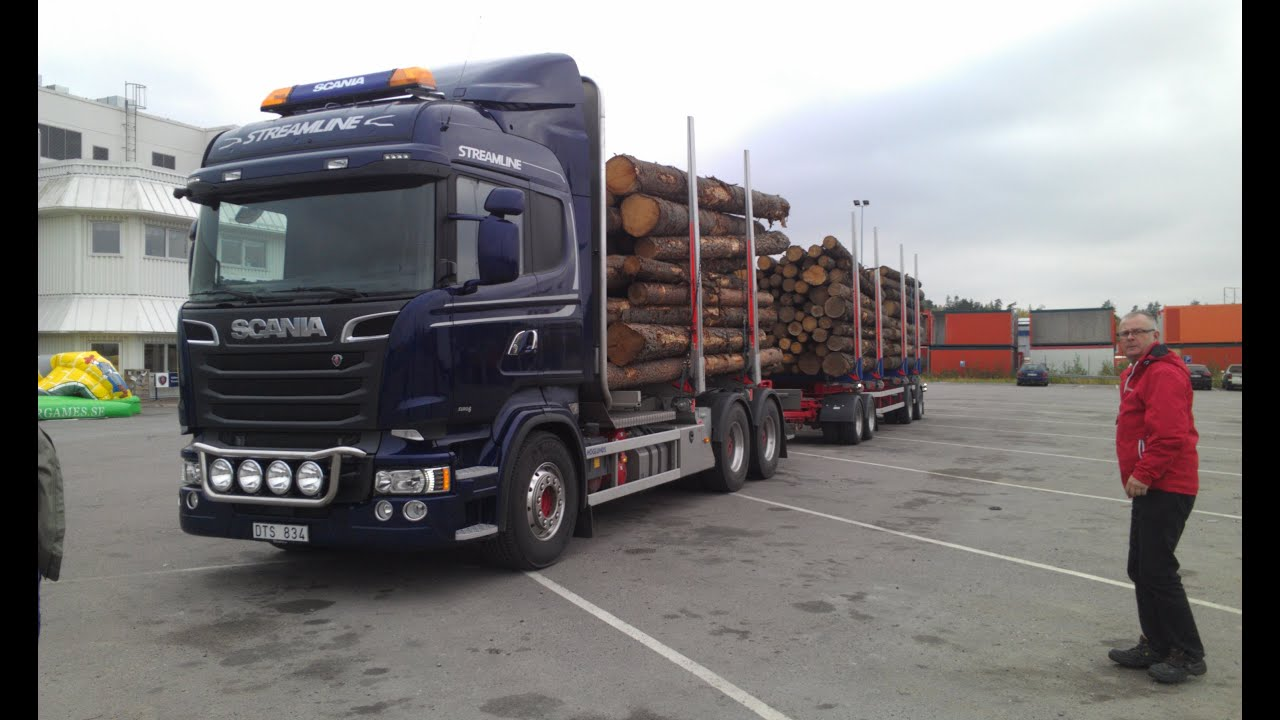 Connu Scania Streamline V8 R580 Timber Truck - YouTube FR21