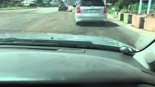 Чита  Собака выпала из машины на полном ходу