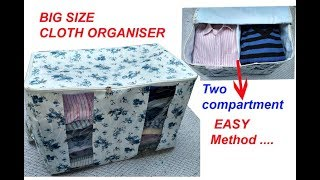 BIG Size storage bag cutting and stitching /organizer for sari /storage bag for winter cloths