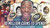 10 MILLION COINS TO SPEND $$$!!! BUYING IF MESSI?! MANNY'S MONEY TEAM #13