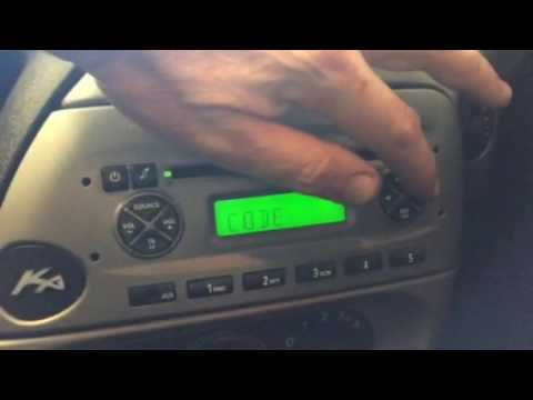Ford Cd  Aux Security Code Input Ka  Build