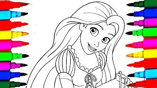 Disney for Girls Rapunzel Ballet Princess Coloring Sheet Coloring Pages How to Color Learn Colors