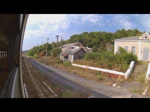 FHD. Suliatytska (arriving). Window view. Diesel train DR1A-264 No.6334 Mohyliv-P. – Zhmerynka. 119