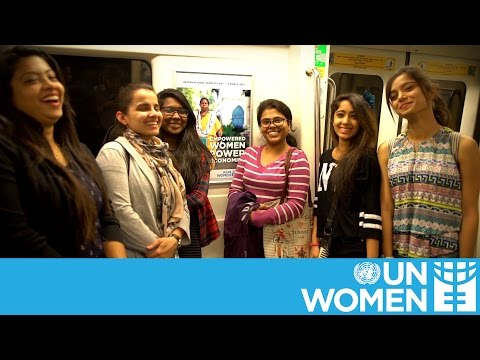 Delhi metro gets UN Women makeover