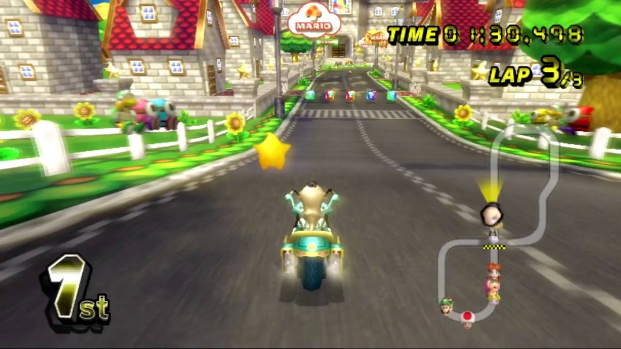mario kart wii wii walkthrough mario circuit youtube. Black Bedroom Furniture Sets. Home Design Ideas