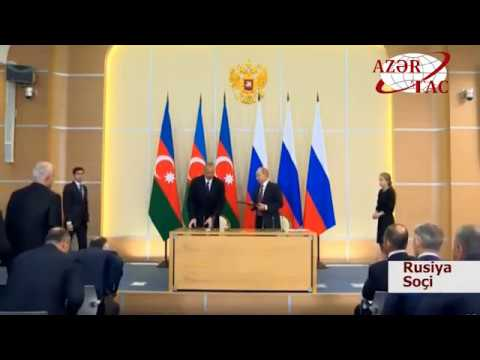 Azərbaycan Rusiya sənədləri imzalanıb
