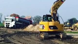 Cat314D, Caterpillar, MAN polska, MAN TGA, CAT444F, CAT 434, building, zwk marszall, Krokowa