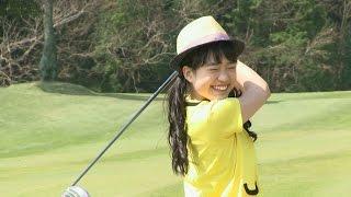 「私、力が足らないから…」とアイドルらしいゴルフの悩みを武市プロに打...