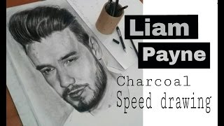 Speed drawing: Liam Payne (charcoal)
