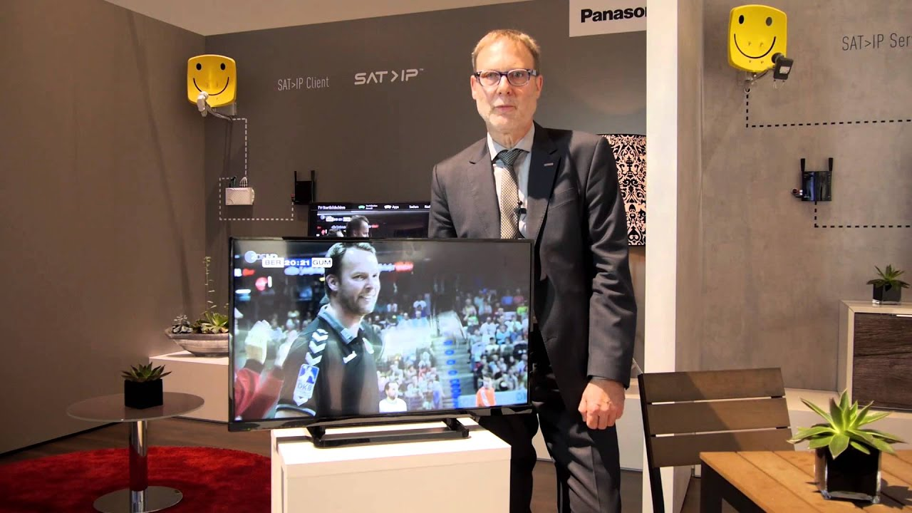 panasonic pr sentiert sat ip client server panasonicifa youtube. Black Bedroom Furniture Sets. Home Design Ideas