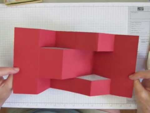 How to Make a Trifold Shutter Card Base - YouTube - Tri Fold Card