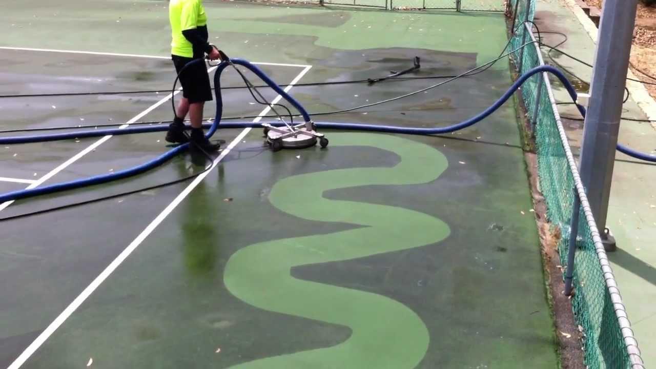 tennis court cleaning machine