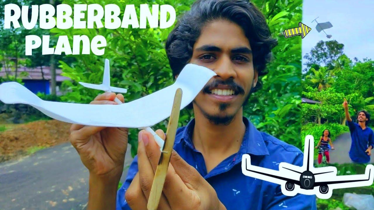 Rubberband  കൊണ്ട് പറക്കുന്ന Plane Toy   Arjun talks