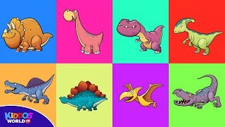 Dinosaurs Puzzle for Kids - Dinosaur Jurassic World Name and Sounds for Kids Learning
