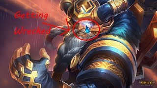 Getting Wrecked in Smite - Odin