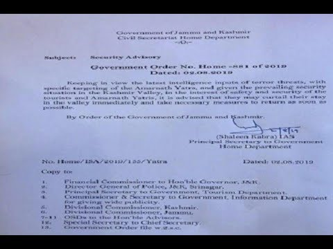 J&k govt. Issues security advisory in the interest of #Amarnath Yatra Pilgrims and Tourists