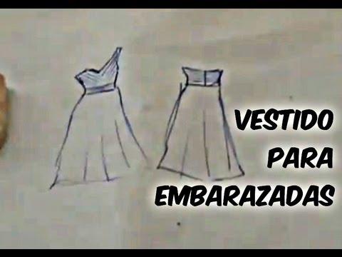 Como hacer vestidos de noche para embarazadas