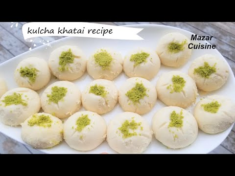 COOKIE RECIPES AFGHAN KULCHA KHATAI.EGGLESS COOKIE NANKHATA