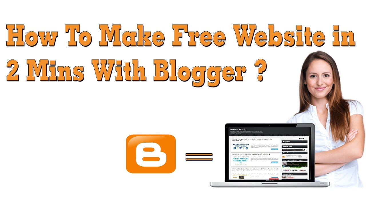 how to make website in mins blogger how to make website in 2 mins blogger