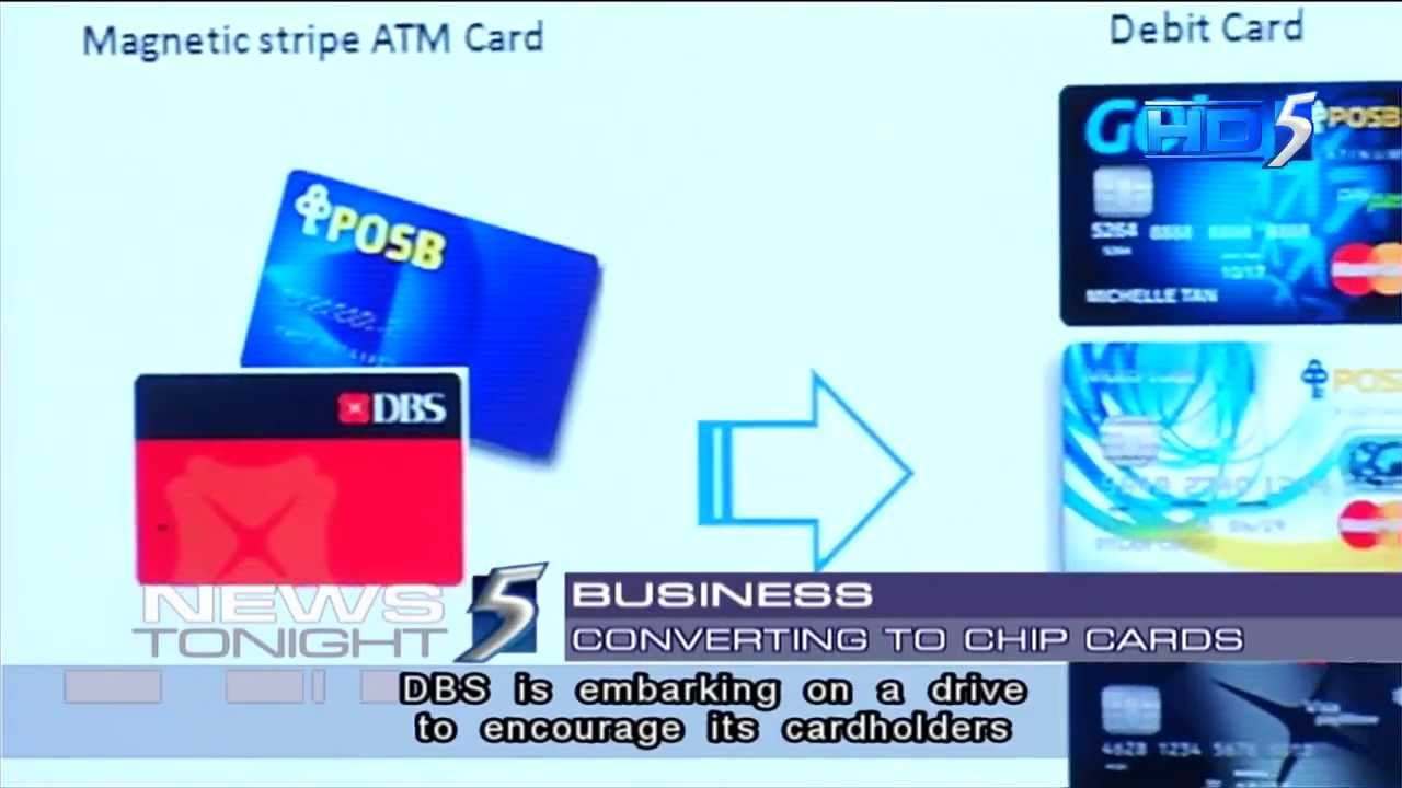 DBS, POSB phasing out magnetic stripe ATM cards by end 2014 - 29Aug2013 - YouTube