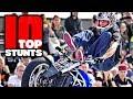 TOP10 Motorcycle Tricks Stunters Battle