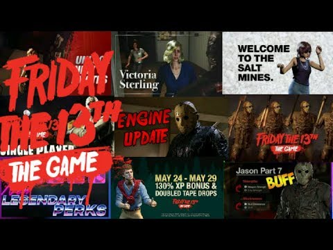 LIVE Friday the 13th: The Game UPDATE IS HERE! New engine,Single player challenges, Weapond swapping