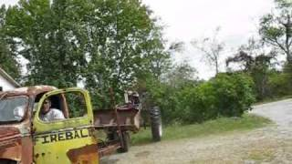 unloading the 41 chevy pulpwood truck rat rod project