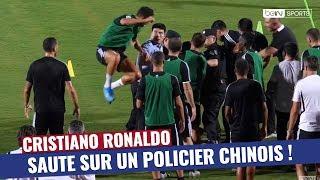 Quand Cristiano Ronaldo saute sur un policier chinois