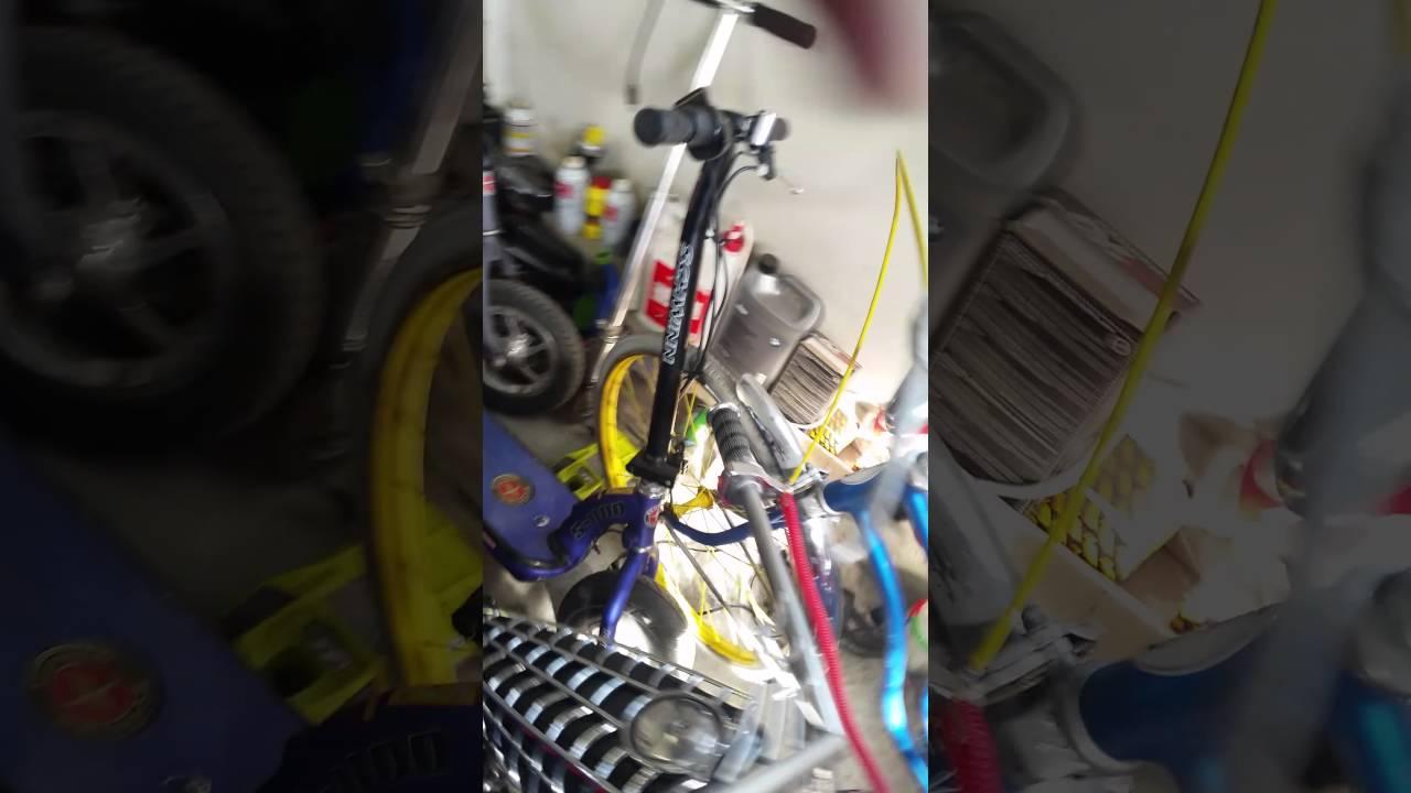 occ black widow 110cc mini chopper cold start [ 1280 x 720 Pixel ]