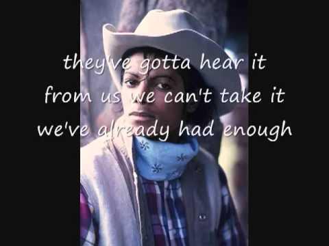 Michael Jackson We've Had Enough with lyrics