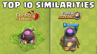 Top 10 Similarities in Clash Royale & Clash of Clans