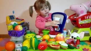 # супермаркет обзор #игрушки весы для магазина кассовый аппарат детский видео для детей
