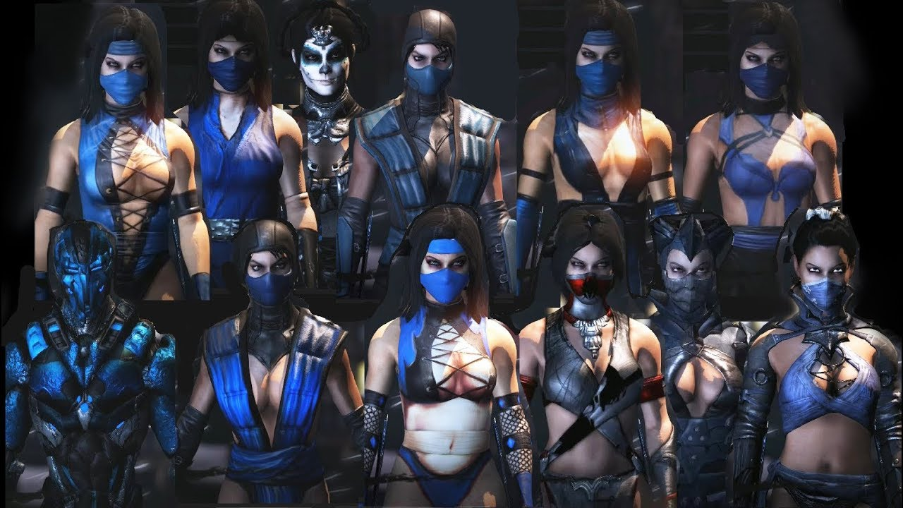 Mortal Kombat X All Kitana Mkx Costume Skin Pc Mod Mkx Mkxl Youtube