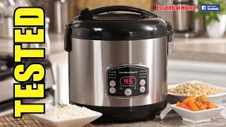 Hamilton Beach DIGITAL RICE COOKER and FOOD STEAMER (4.75 Litre): ESSENTIAL HOME REVIEW